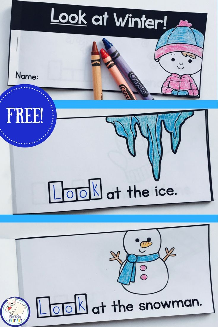 Free winter sight word emergent reader for the word look ...