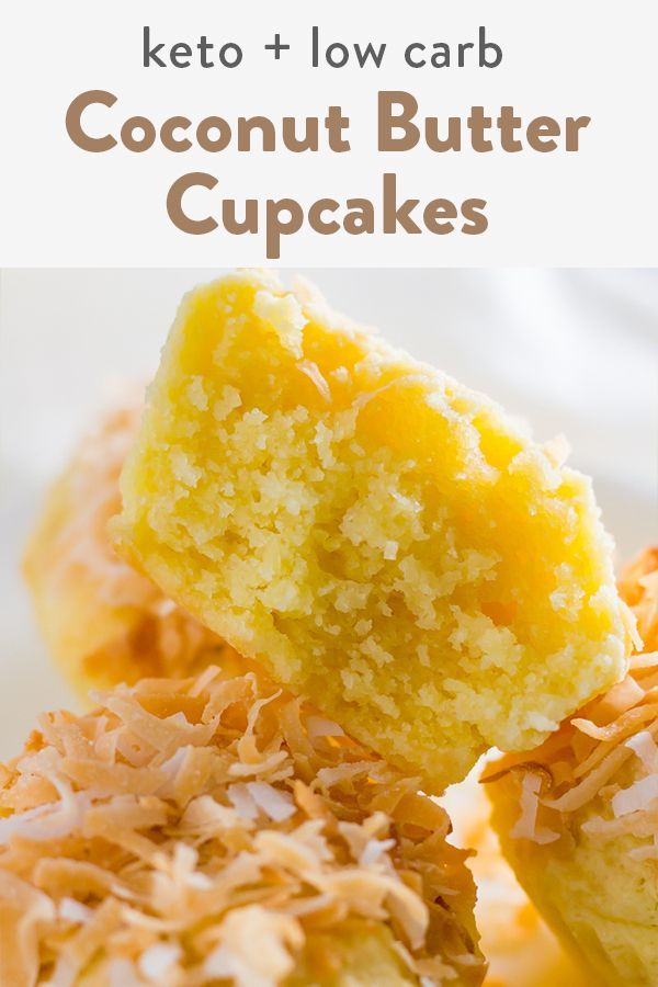 Coconut Butter Keto Cupcakes (Low Carb, Dairy Free, Gluten Free)