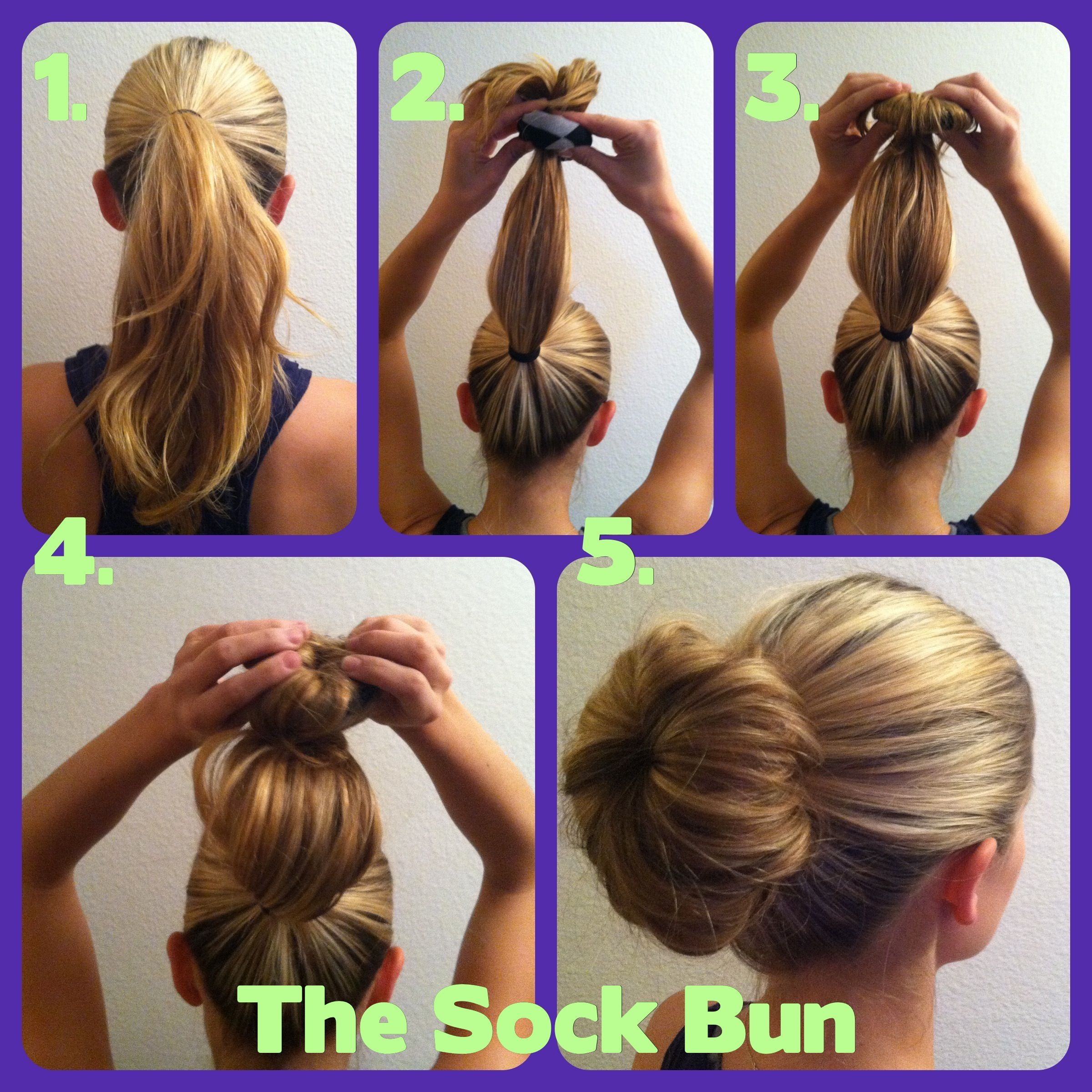 How To Do Your Hair For School Sock Bun Even Fine Hair Can Look Plumped Up With This One Hair Donut Hair Styles Hair Hacks