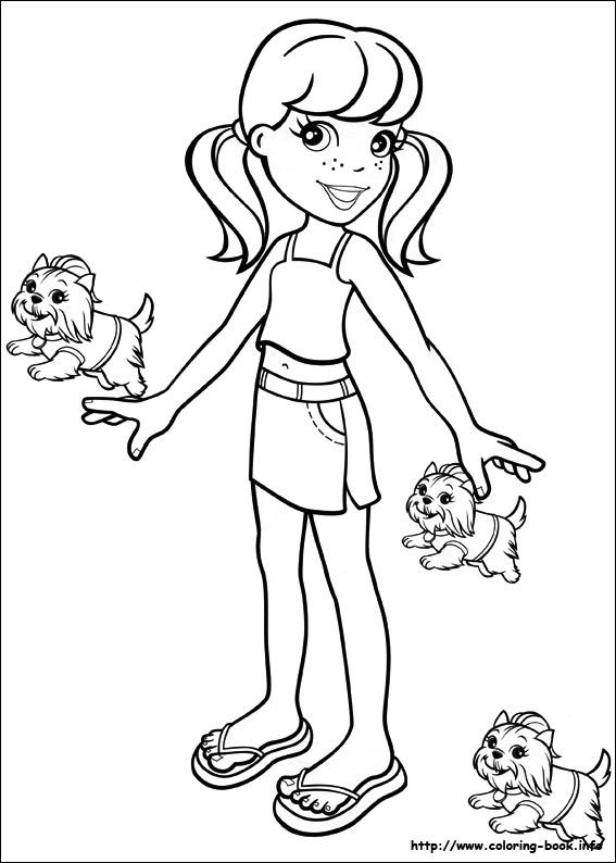 Polly Pocket Coloring Picture Malen Pinterest Coloring Pages