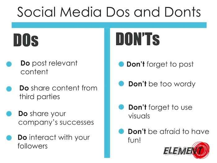 Basics first! A list of DOs and DONTs for your #SMM campaign! Find out more : http://buff.ly/1PcKL0I