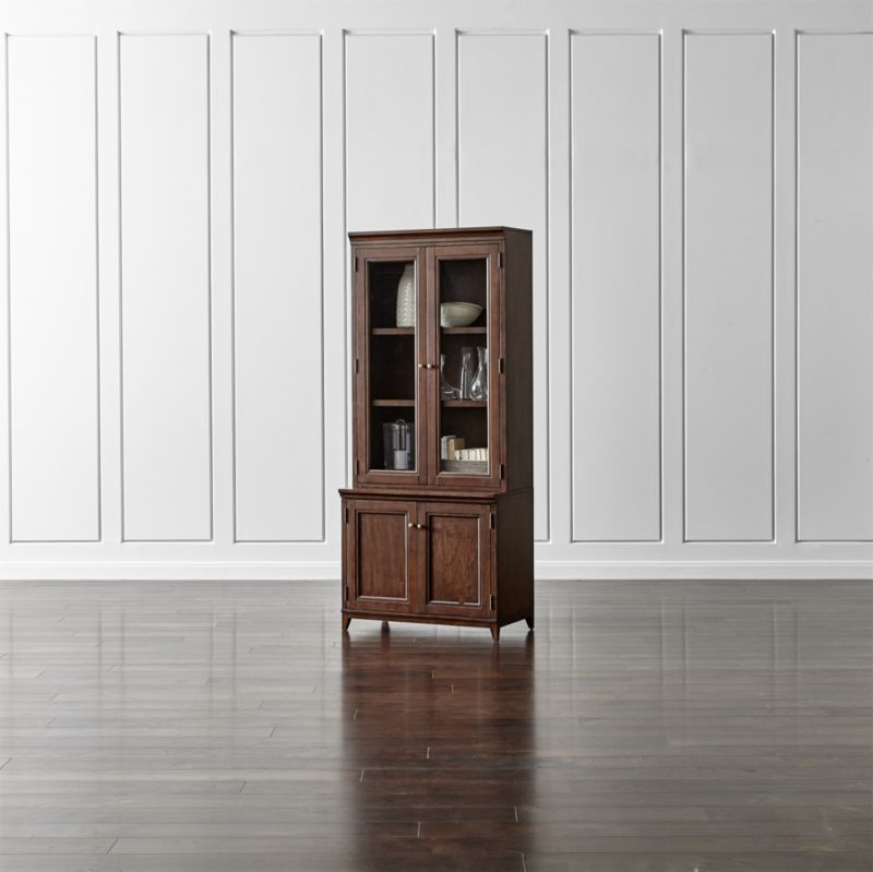 Harrison 2 pc cherry 36 bookcase with glass doors crate and harrison 2 pc cherry 36 bookcase with glass doors crate and barrel planetlyrics Images