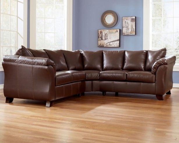 Elegant Brown Leather Sofa From Snows Furniture Added To Furnish