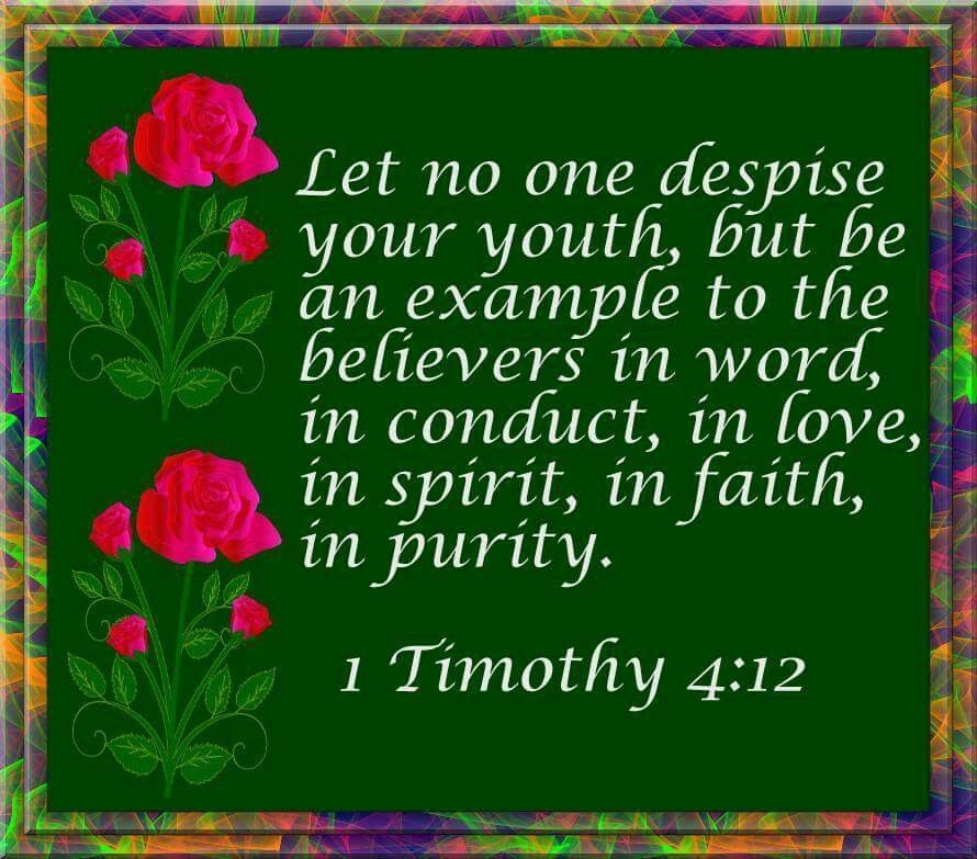 Image result for 1 timothy 4 12 kjv