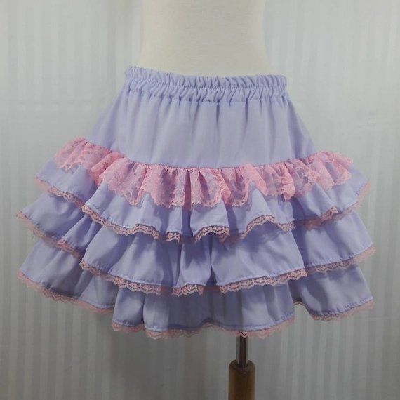55b4bf3751f Light purple kawaii fairy kei pop pastel goth decora lolita skirt small to  plus size