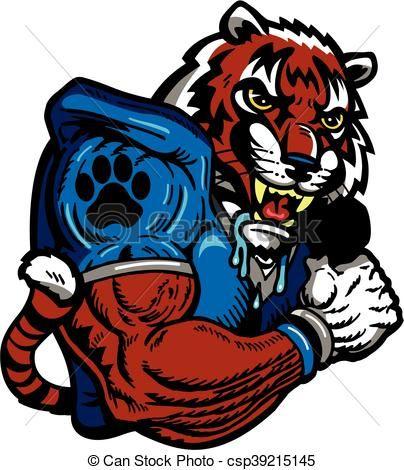 vector tiger football stock illustration royalty free rh pinterest com free tiger mascot clipart free school mascot clipart