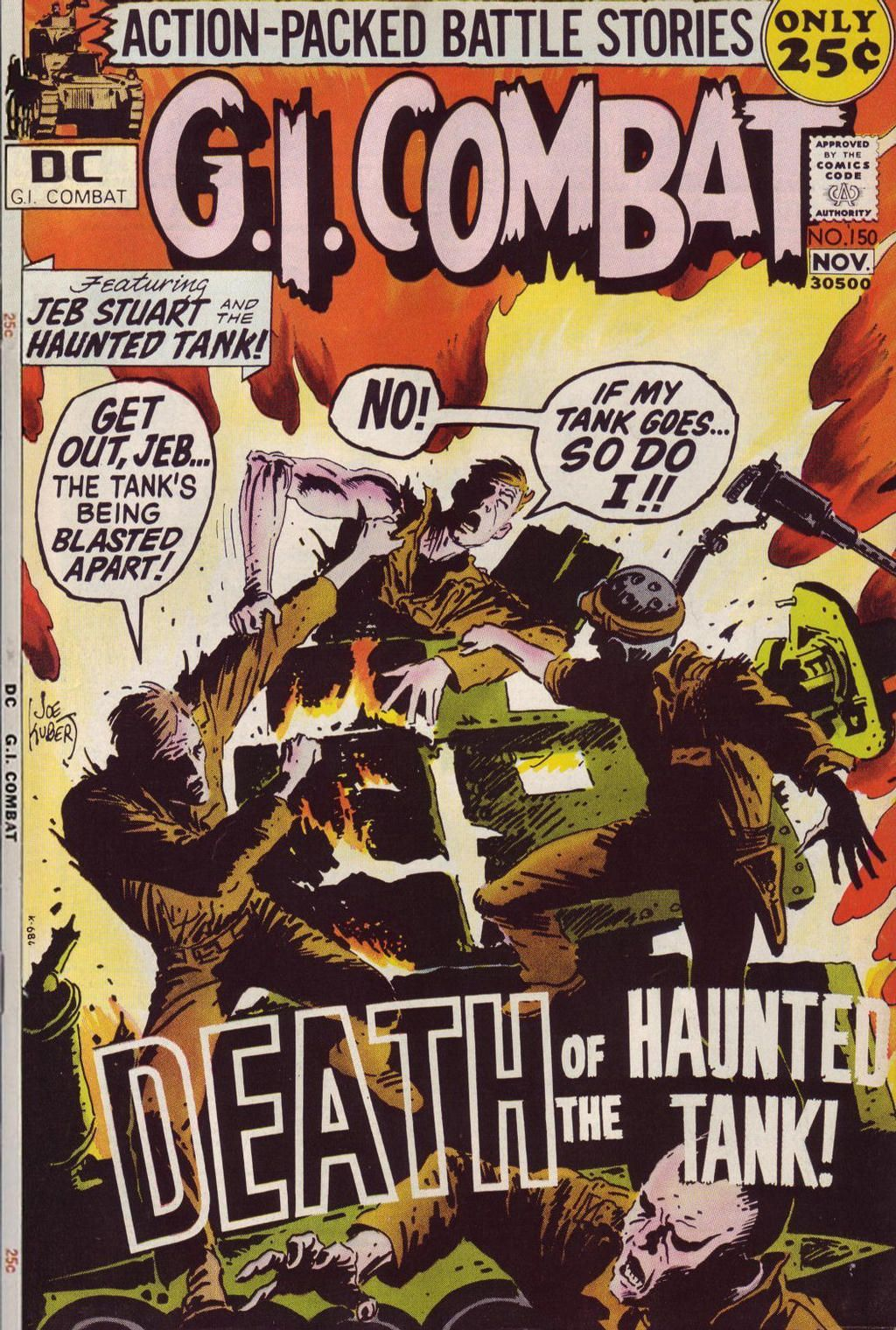 Death of the haunted tank g i combat 150 november 1971 wacky comic books like a wwii tank haunted by the ghost of confederate general j also ones that have word balloons on the cover publicscrutiny Choice Image