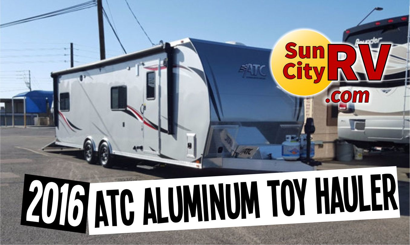 This new 2016 Light Weight Aluminum ATC Toy Hauler comes