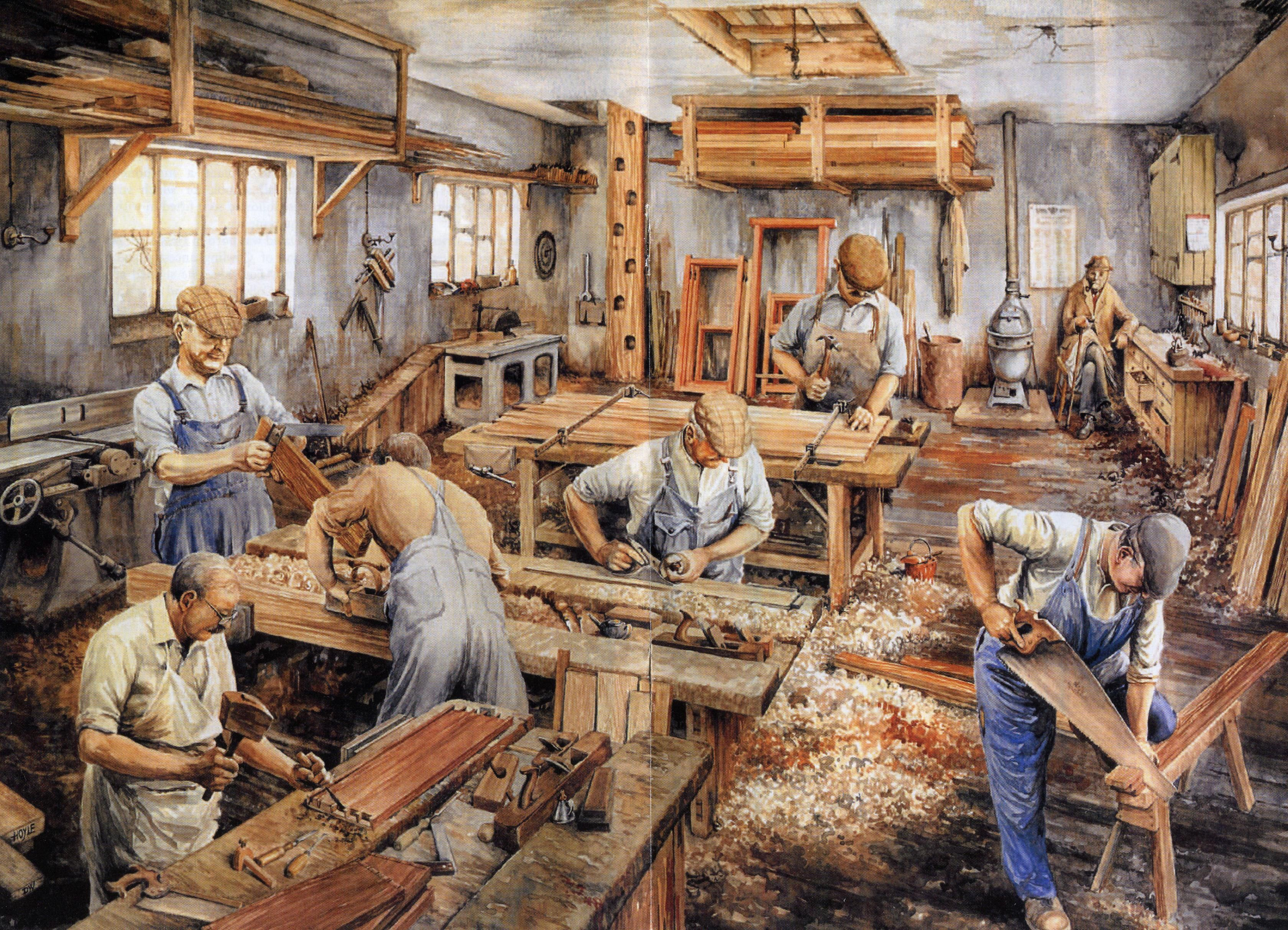 How Carpenters used to work in The Old Days   Vintage woodworking   Pinterest   The old, 5 years ...