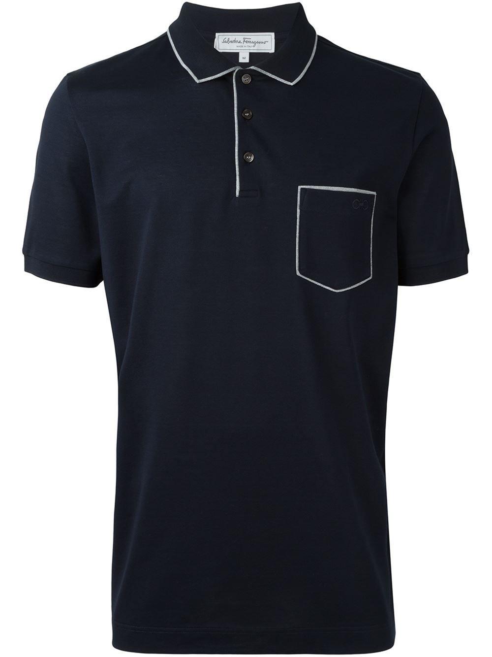 5dbd0cfed Salvatore Ferragamo Camisa polo com bolso