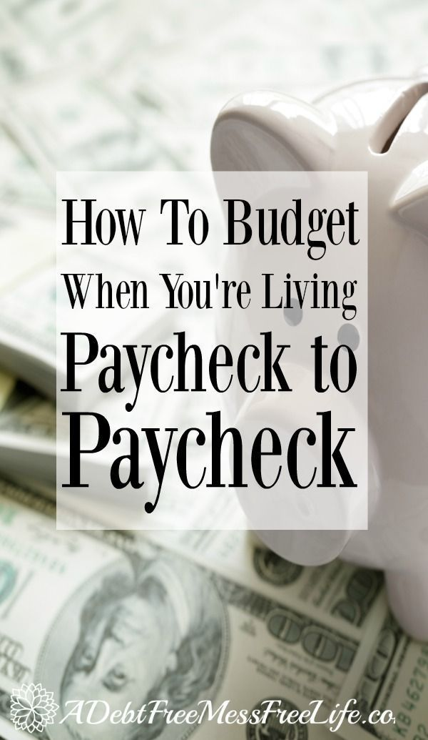 How To Budget When You\u0027re Living Paycheck To Paycheck Stress free - help me budget my money for free