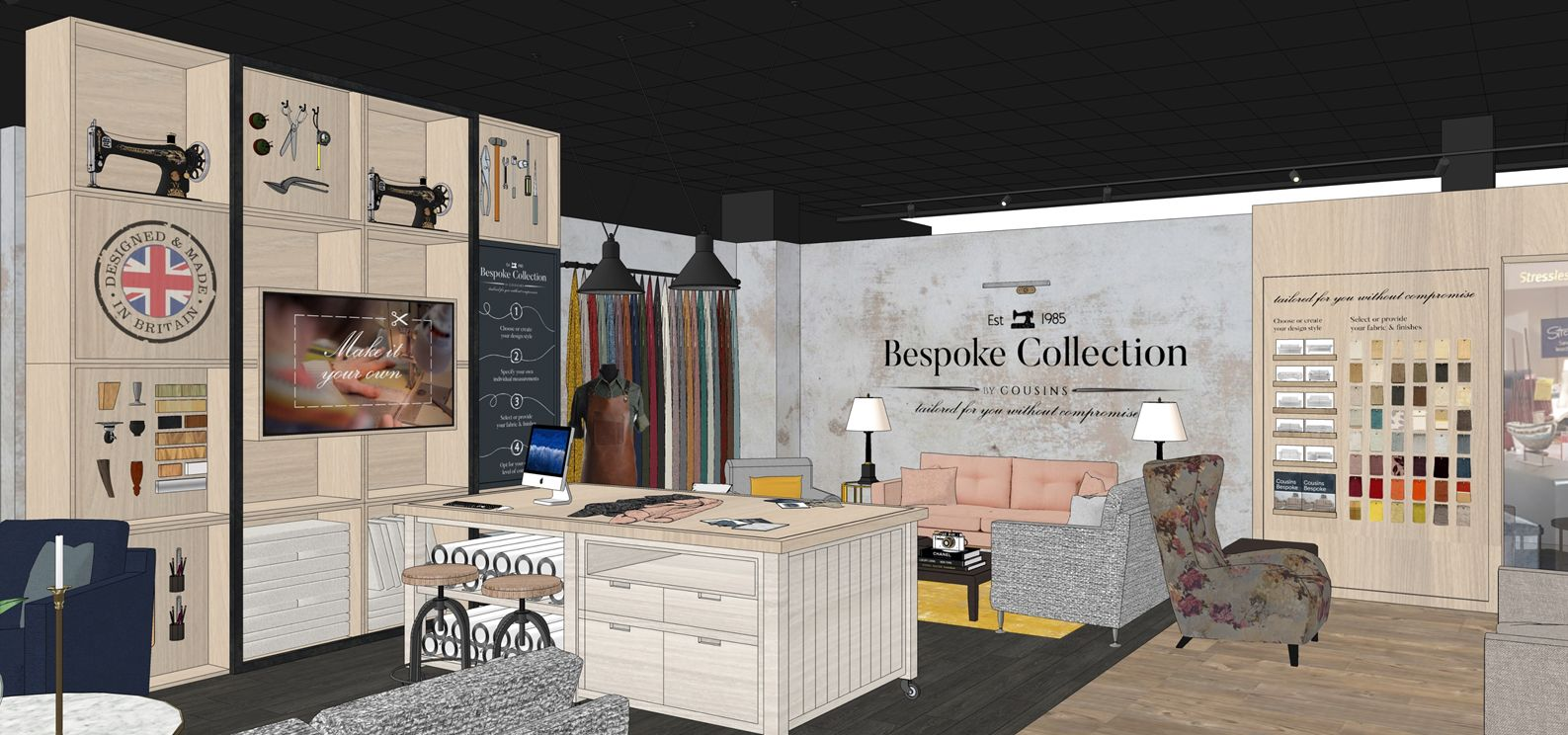Design Proposals For Specialist Bespoke Area Within Furniture
