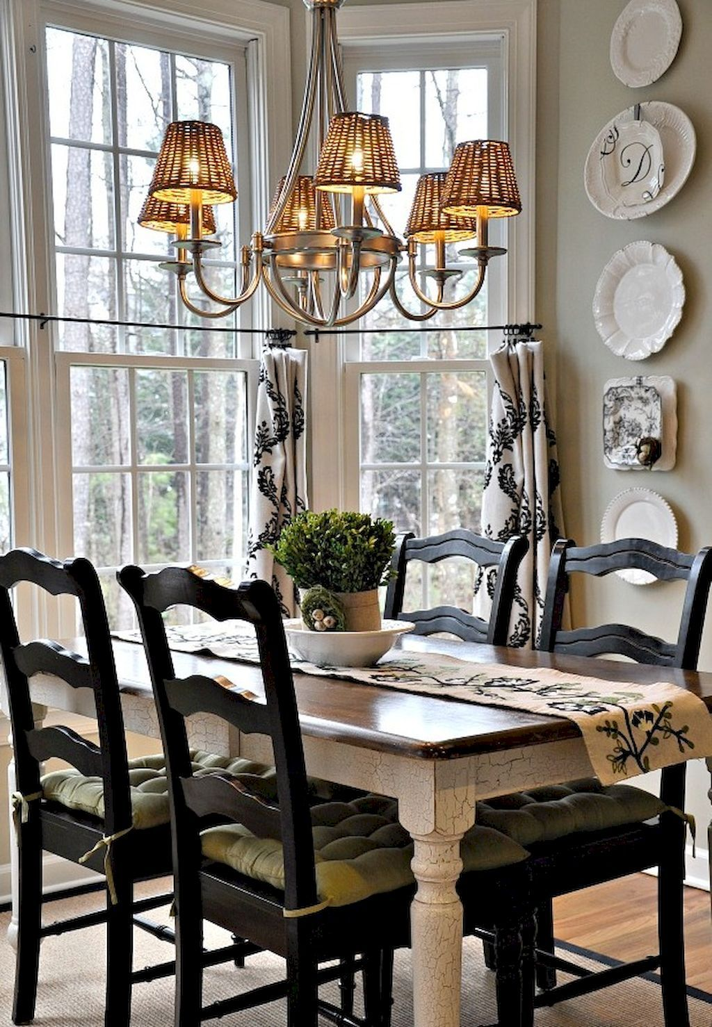 Cool 55 Fancy French Country Dining Room Table Decor Ideas https ...