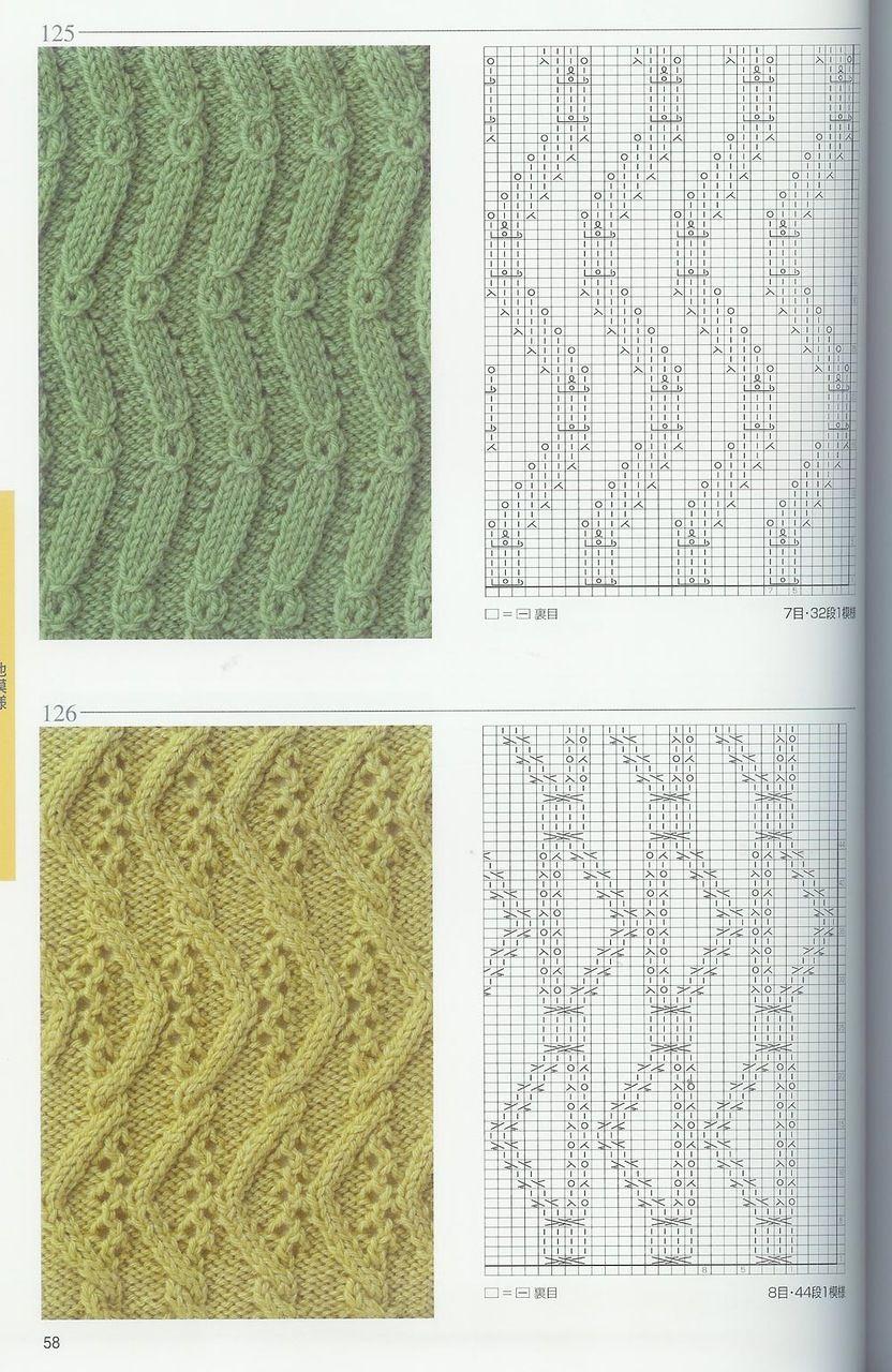 Цветочные узоры спицами с описанием и схемами