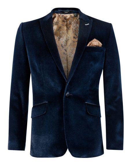 6f6bff4a39d2d SPARKIL - Velvet sparkle jacket - Navy