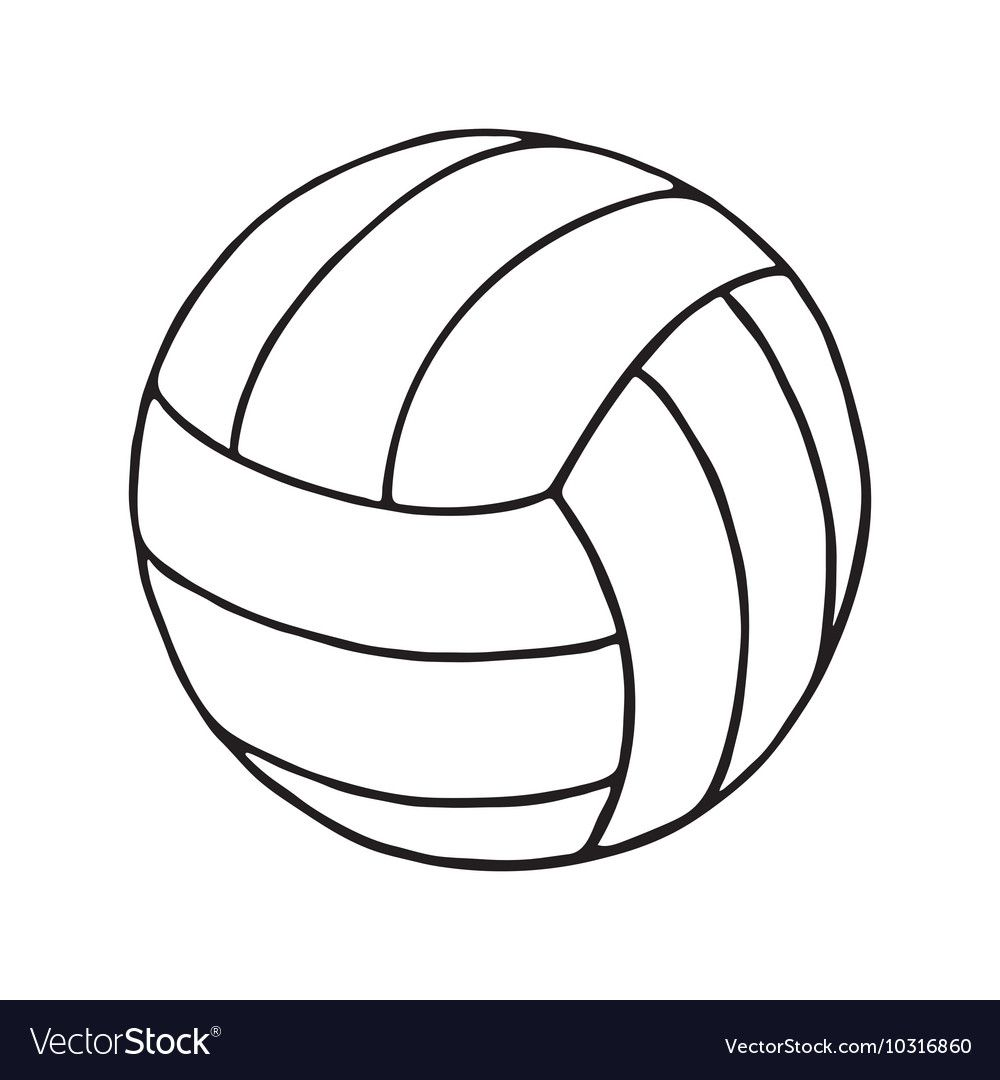Volleyball Outline Royalty Free Vector Image Vectorstock Sponsored Royalty Outline Volleyball Free Vector Free Vintage Business Cards Royalty Free