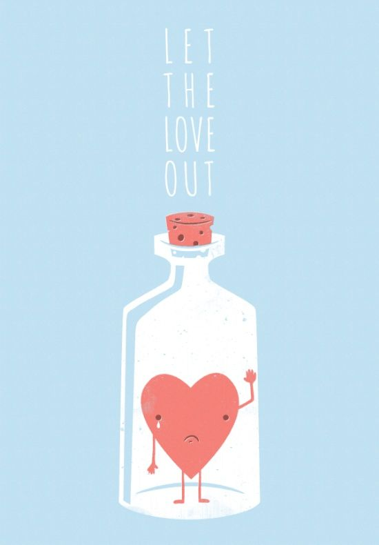 Let the LOVE Out Art Print
