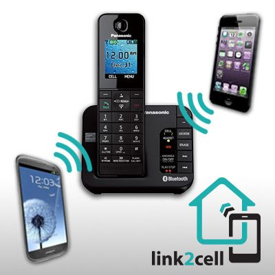 Link2cell bluetooth enabled phone with answering machine kx link2cell bluetooth enabled phone with answering machine kx tgh263b sync your smartphone to your cordless telephonehome sciox Images