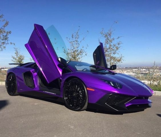 Lamborghini Aventador Super Veloce Coupe painted in Viola