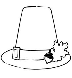 Printable Pilgrim Hat Coloring Page from PrintableTreats ...
