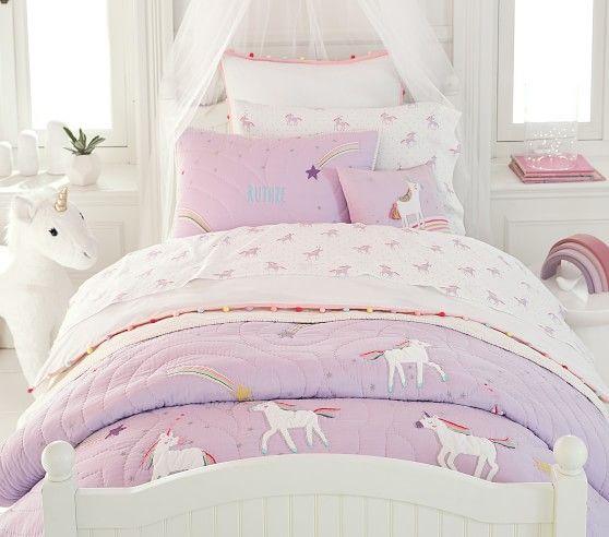 Organic Unicorn Rainbow Sheet Set Unicorn Room Decor