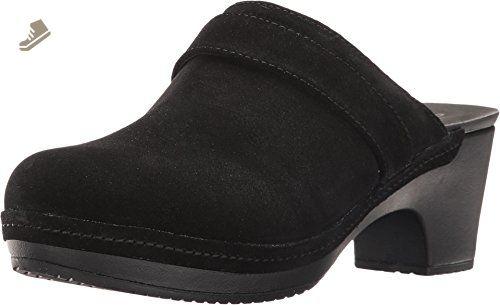 9aedd06703df8 crocs Women's Sarah Suede Clog Mule, Black, 7 M US - Crocs mules and ...