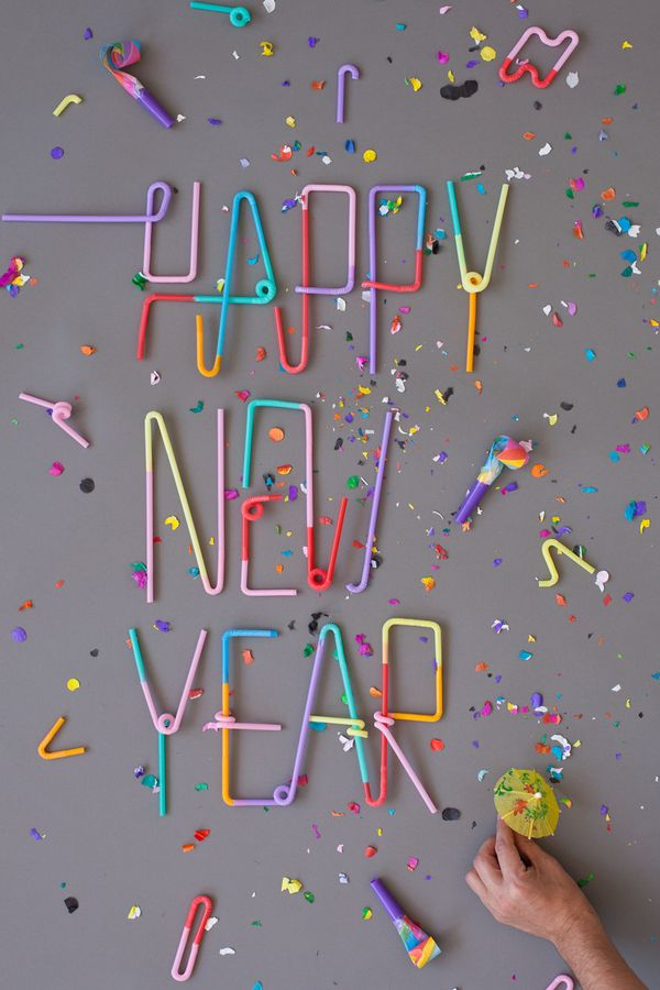 Fonts Happy New Year Typography Behance
