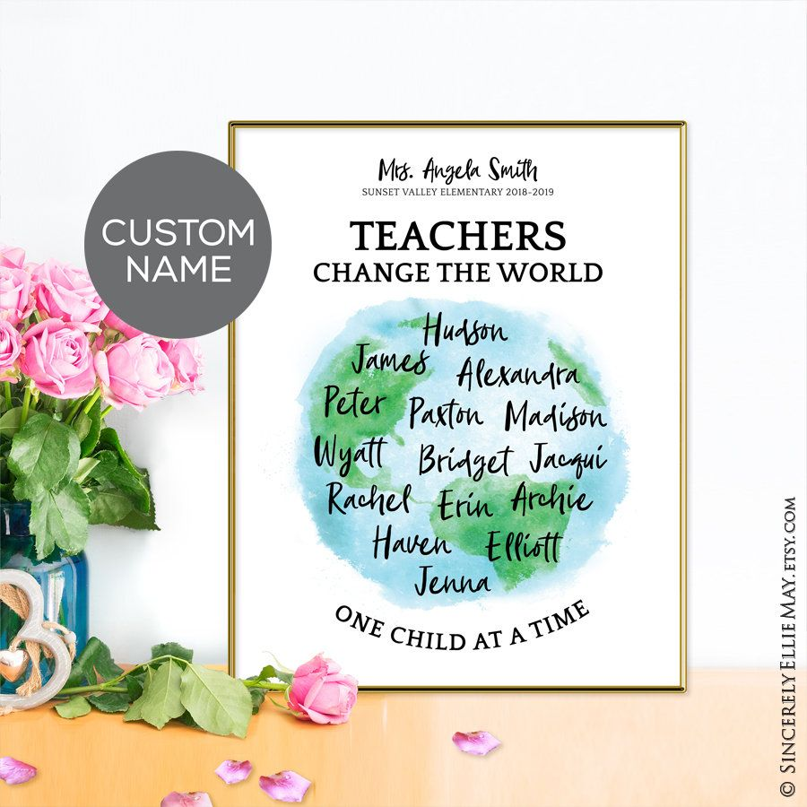 teacher gifts custom s teachers change the world