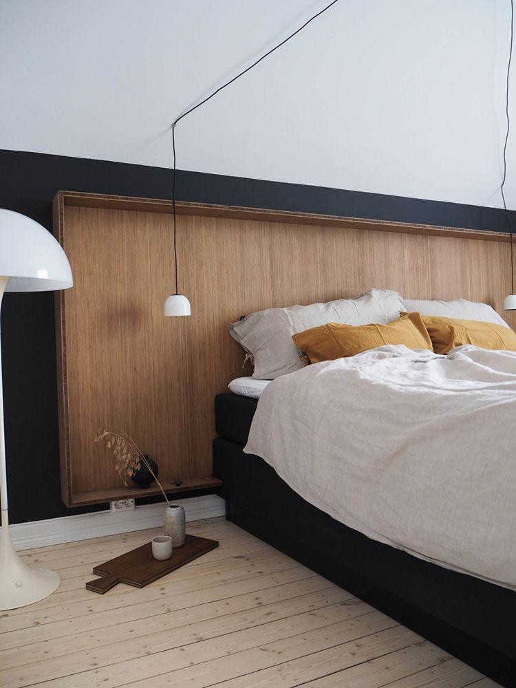 A Smart Wooden Headboard Idea In 2019 Bedroom Furniture