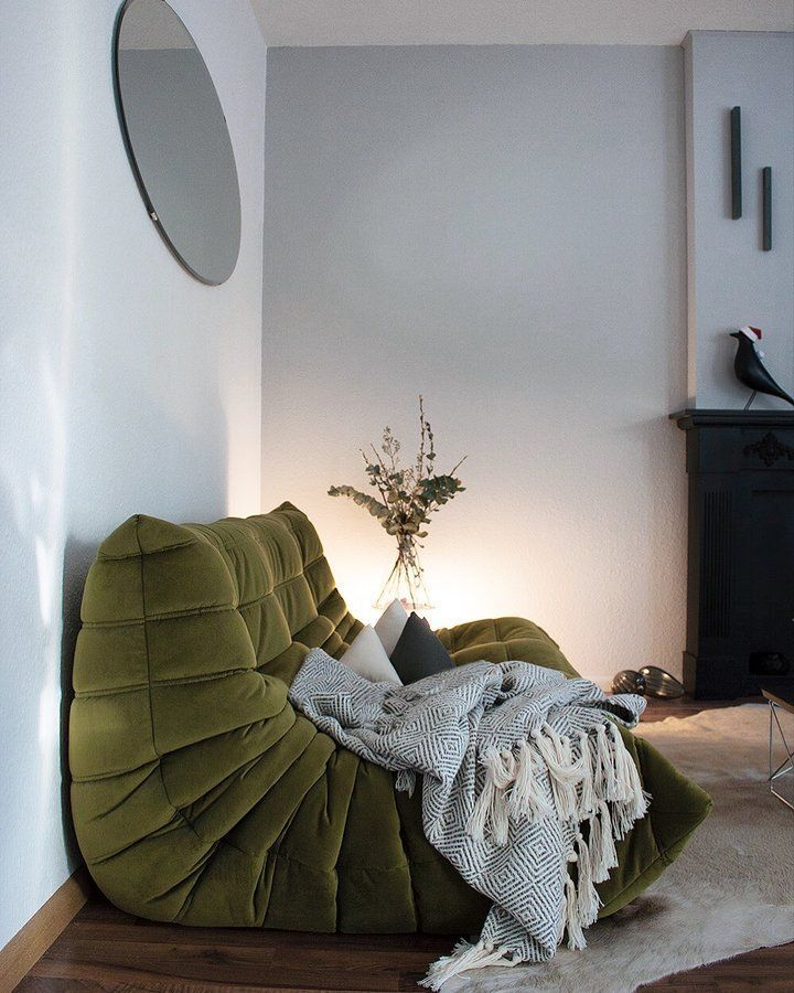Photo of Togo in green velvet,  #bestbedroomdecorinteriordesign #Green #Togo #Velvet