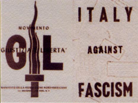 """""""Giustizia e Libertà"""" antifascist movement leaflet."""