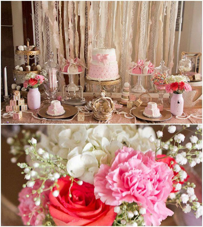 Kara S Party Ideas Royal Princess First Birthday Party: Elegant Princess Baby Shower Via Kara's Party Ideas