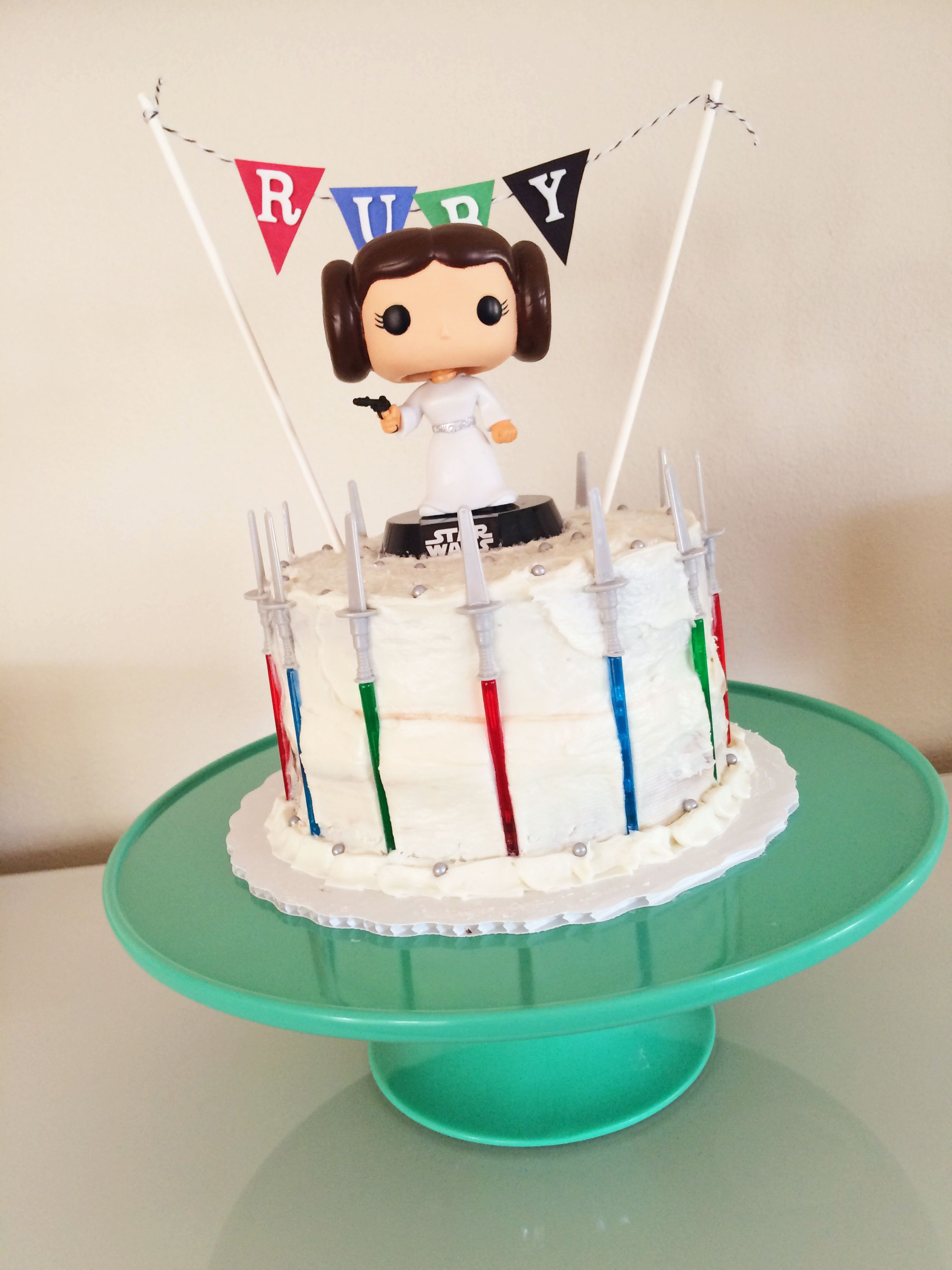 A Simple Princess Leia Birthday Cake for a Serious Star Wars Fan