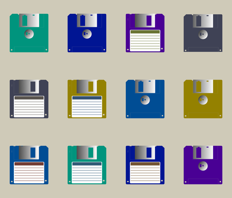 Colorful Fabrics Digitally Printed By Spoonflower Floppy Disks Spaced Space Fabric Fabric Floppy Disk