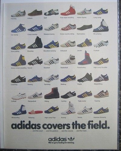 1981 ADIDAS Print 42 Sports Tennis