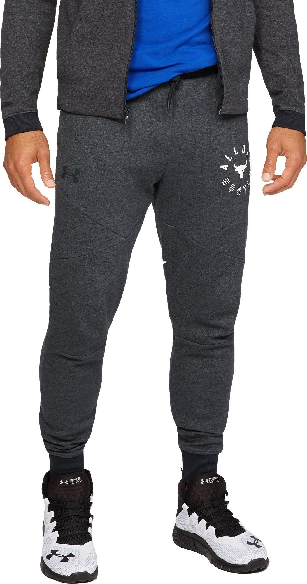 Under Armour Men S Project Rock Double Knit Joggers Black Athletic Outfits Under Armour Gym Wear Men