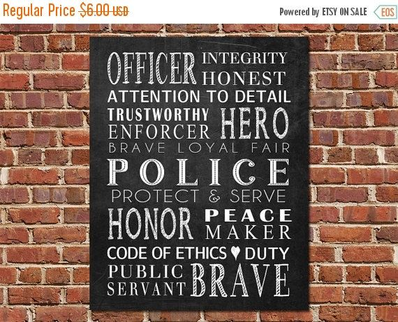 Printable Art Police Officer Gift Police Officer Subway Art Etsy Police Officer Gifts Gifts For Office Law Enforcement Gifts