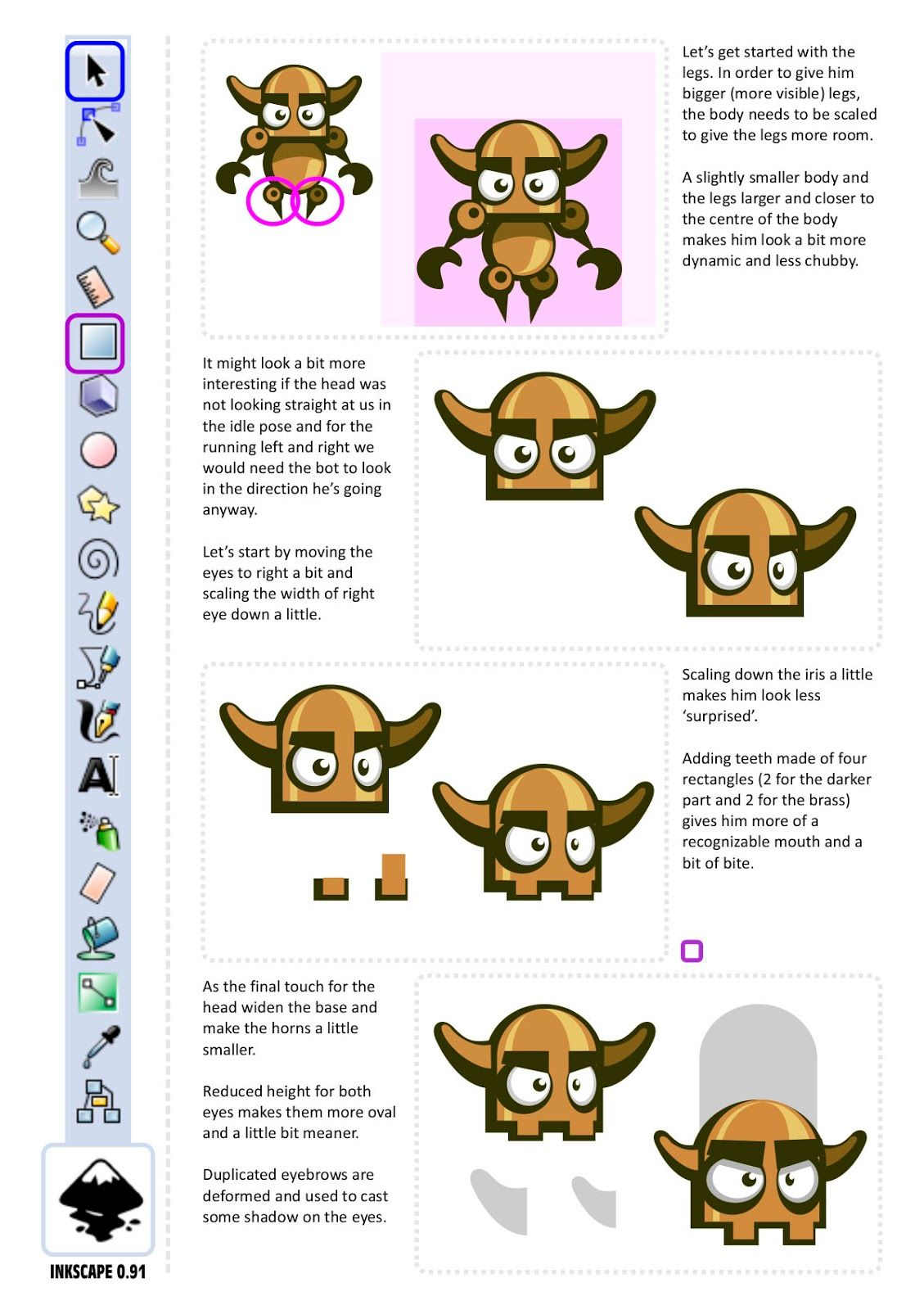 2d Game Character Design Tutorial : D game art for programmers complete character