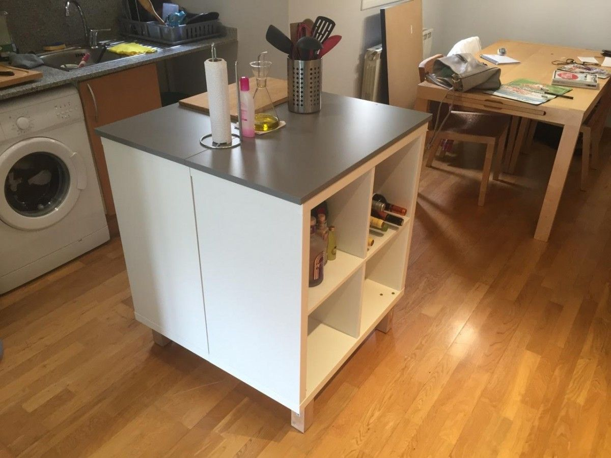 Cuisine Moderne Ilot Central Table ~ Un Nouvel Ilot Central Cuisine Avec Kallax Pinterest Ikea Hack