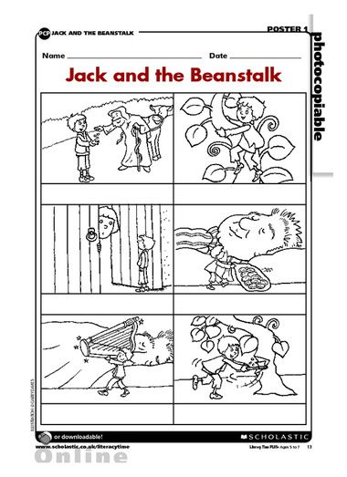 Jack and the Beanstalk Bean Number Matching Activity | Printemps ...