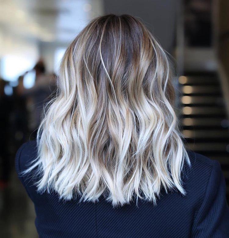 Ash Blonde Balayage Neutral Lob Phoenixcosmetic Www