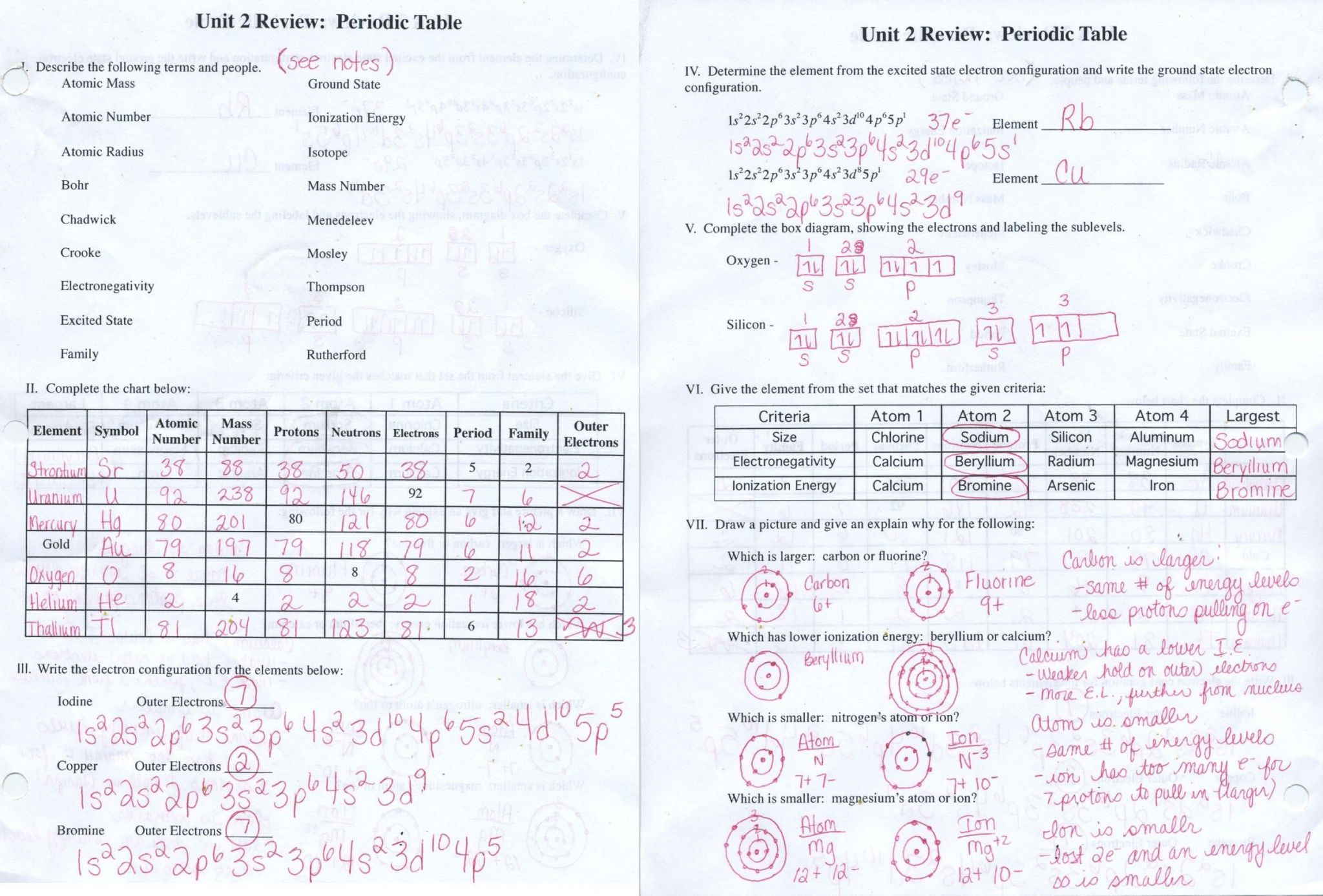 Periodic Table Puzzle Worksheet Chemistry worksheets