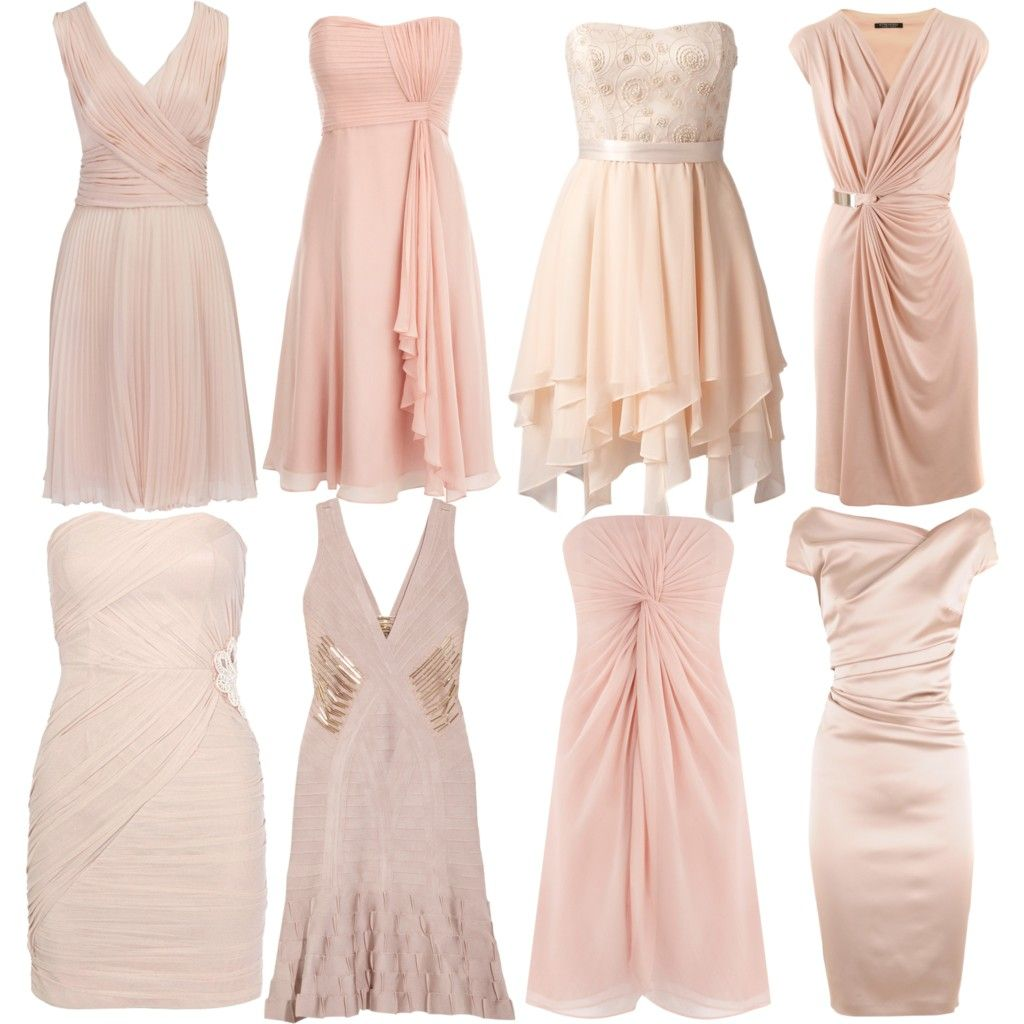 Blush Colored Bridesmaid Dresses...for A Soft, Vintage