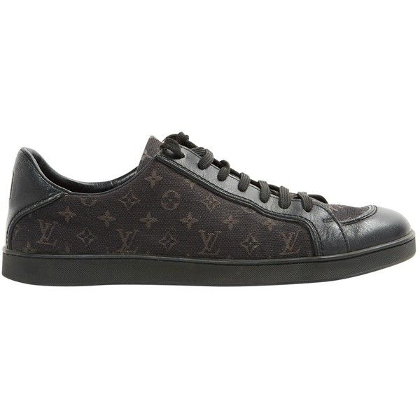 2445531213ad Pre-owned Louis Vuitton Cloth Trainers (£235) ❤ liked on Polyvore featuring  shoes