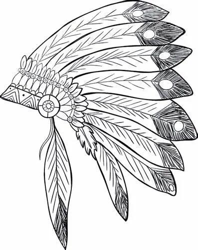 12 Desenhos De Cocar Indigena Para Colorir E Imprimir Cocar