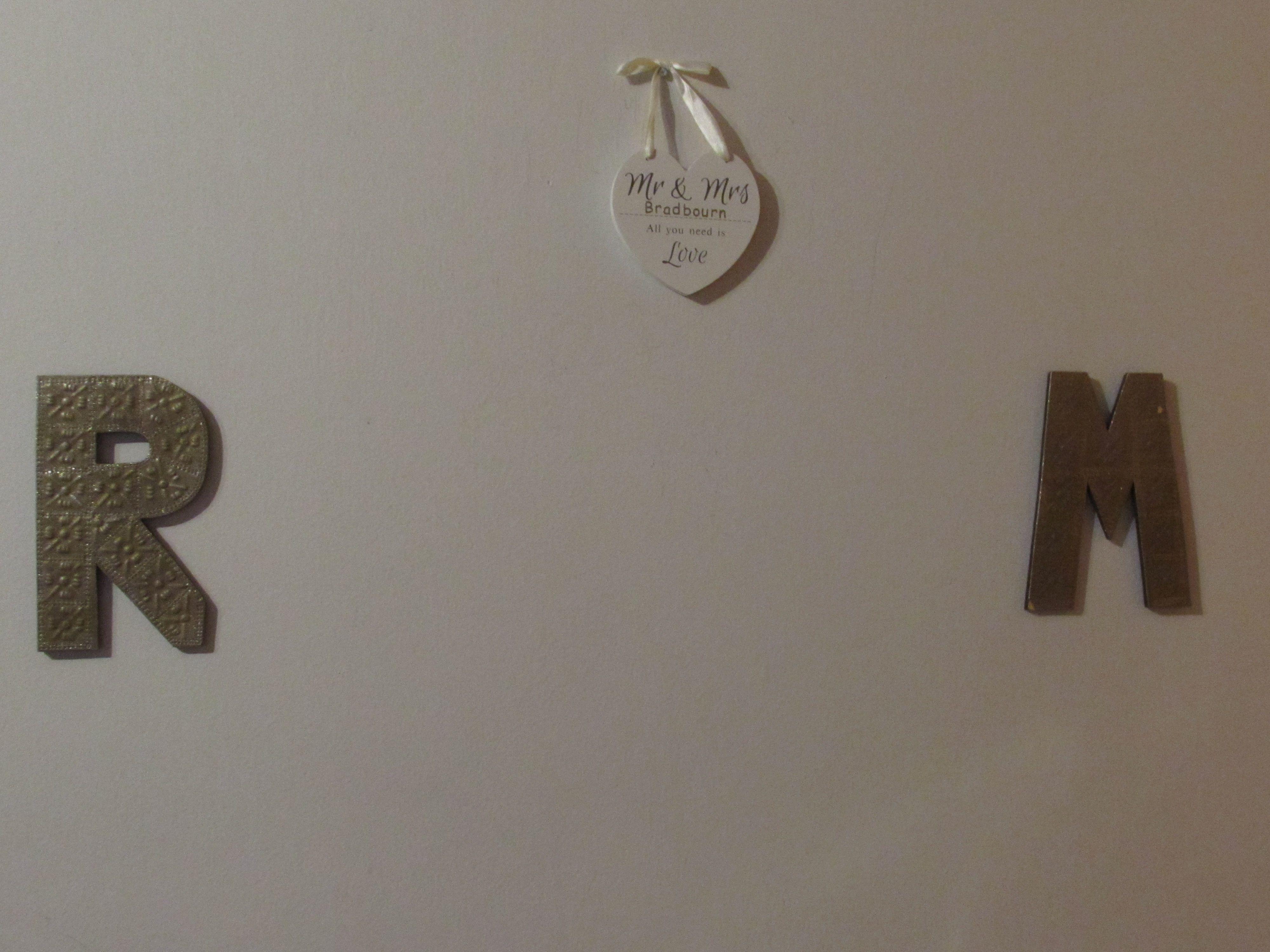Bride & Groom initial decorations