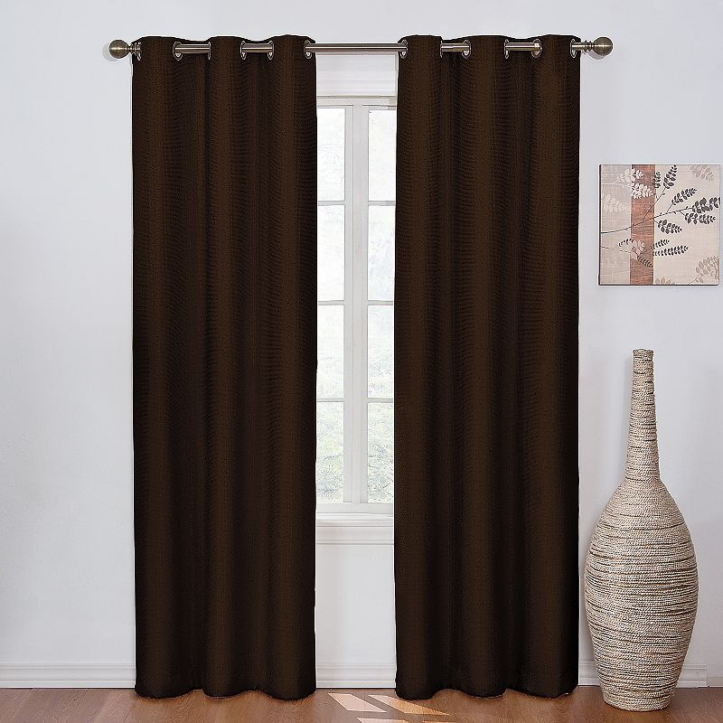 Eclipse Madison Thermaback Blackout Curtain Brown