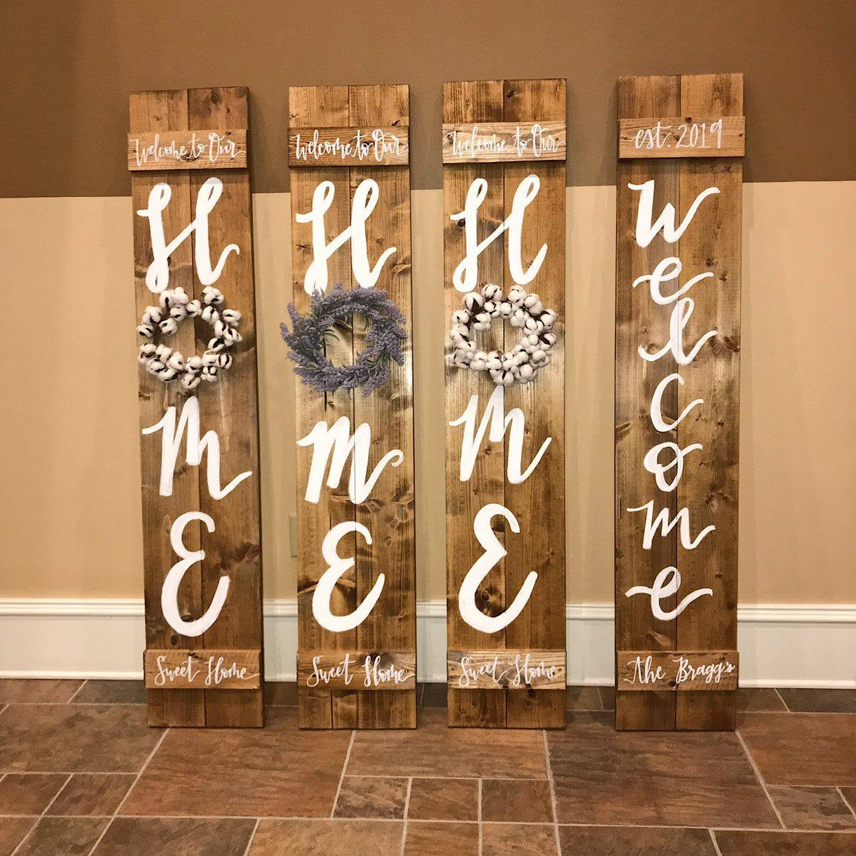 Porch Welcome Sign Home Signs Wood Sign With Wreath Porch Etsy In 2020 Porch Welcome Sign Wood Signs For Home Wooden Welcome Signs