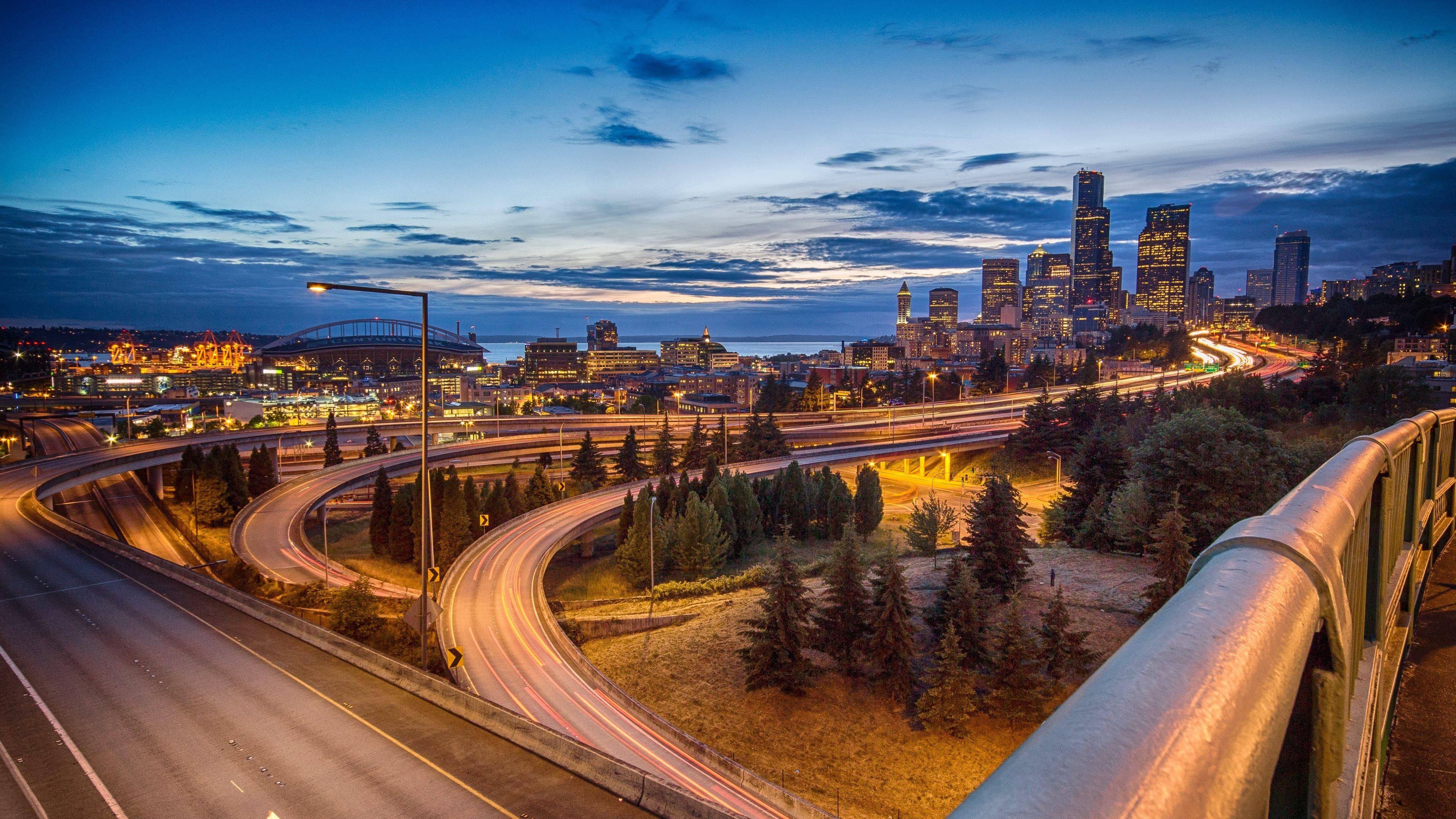 Heath Gordon Free Computer Wallpaper For Seattle 3840x2160 Px 4k Background Seattle Skyline Skyline
