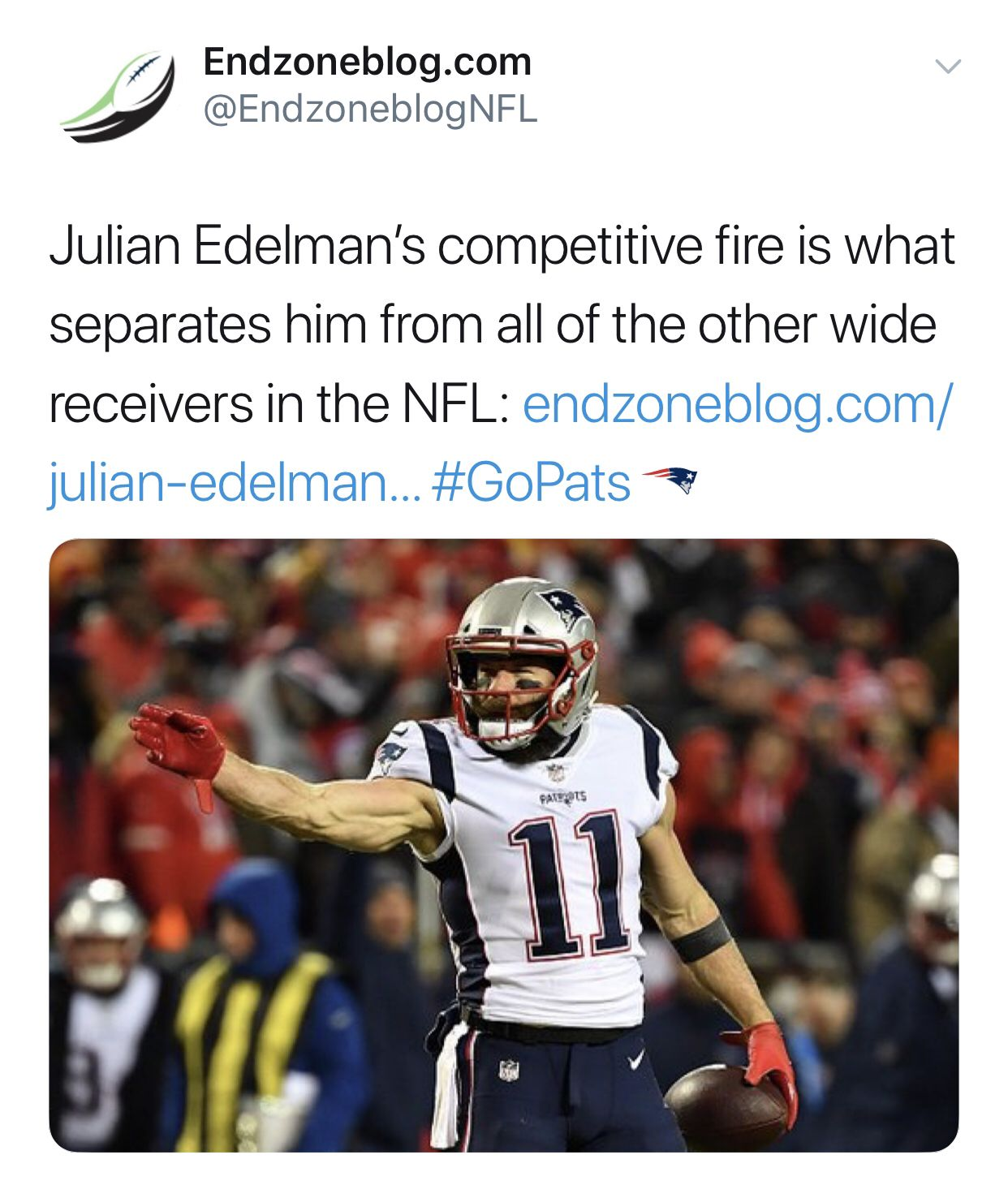 Julian Edelman S Competitive Fire Makes Him Different From The Pack Julian Edelman Football Streaming Live Football Streaming